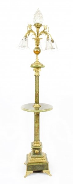 Antique Onyx and Ormolu Floor Standard Lamp Louis Revival circa 1900 | Ref. no. 09013 | Regent Antiques
