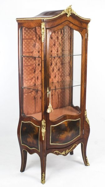 Vintage French Walnut  Vernis Martin Display Cabinet  20th C | Ref. no. 09039 | Regent Antiques