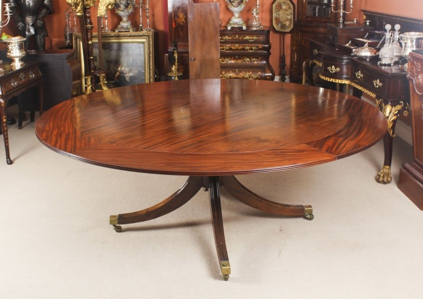 Vintage 194cm  Diam Mahogany Jupe Dining Table & Leaf Cabinet. Mid 20th C | Ref. no. 09061b | Regent Antiques
