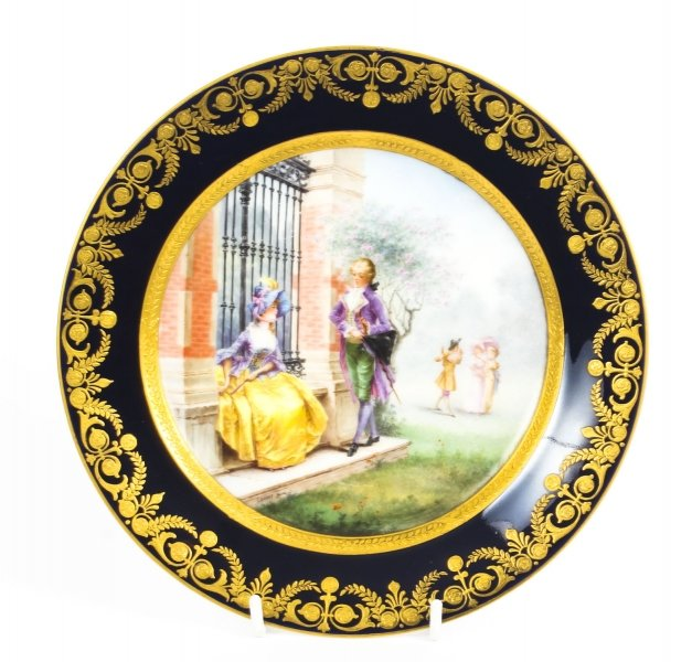 Antique French Sevres Hand-painted Porcelain Gilt  Plate  19th C | Ref. no. 09066 | Regent Antiques