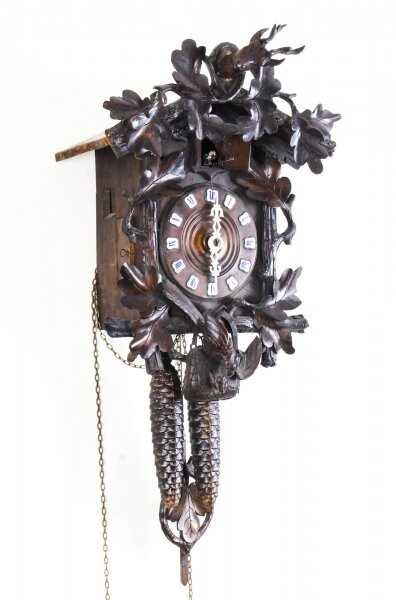 Vintage Black Forest Oak Cuckoo Clock Mid 20th Century | Ref. no. 09070 | Regent Antiques