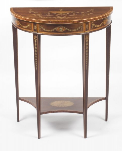Antique Regency Revival Marquetry Console Table  19th C | Ref. no. 09083a | Regent Antiques