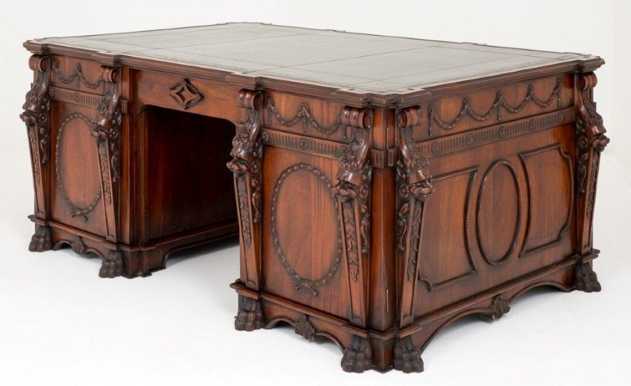 Chippendale partners desk | Ref. no. 09087 | Regent Antiques