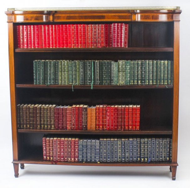 Antique Edwardian Inlaid Satinwood Open Library Bookcase c.1900 | Ref. no. 09089 | Regent Antiques