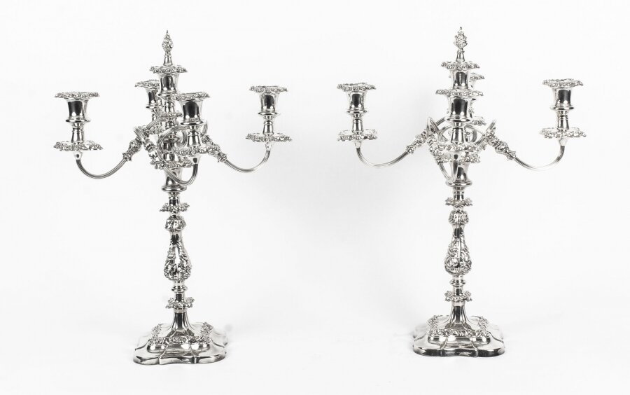 Antique Pair 5 Light Candelabra Garrard & Co  C1910 | Ref. no. 09097 | Regent Antiques