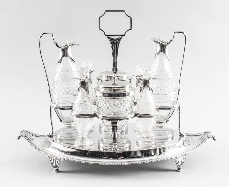 Antique English Silver Condiment Cruet Set Paul Storr 18th C | Ref. no. 09101 | Regent Antiques