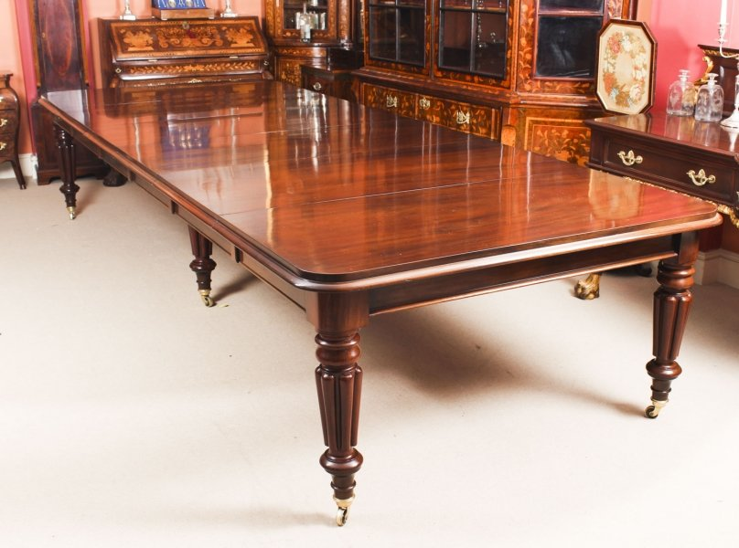 Antique 13 ft William IV Mahogany Extending Dining Table C1830  19th C | Ref. no. 09168 | Regent Antiques