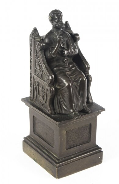 Antique Italian Grand Tour Patinated  Bronze Sculpture of St Peter 19th Century | Ref. no. 09203 | Regent Antiques