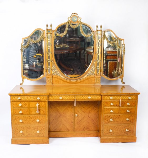 Antique Satinwood & Marquetry Dressing Table  Waring & Gillow  19th C | Ref. no. 09216 | Regent Antiques
