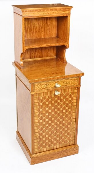 Antique Satinwood Marquetry Inlaid Side Cabinet Waring & Gillow 19th C | Ref. no. 09216d | Regent Antiques