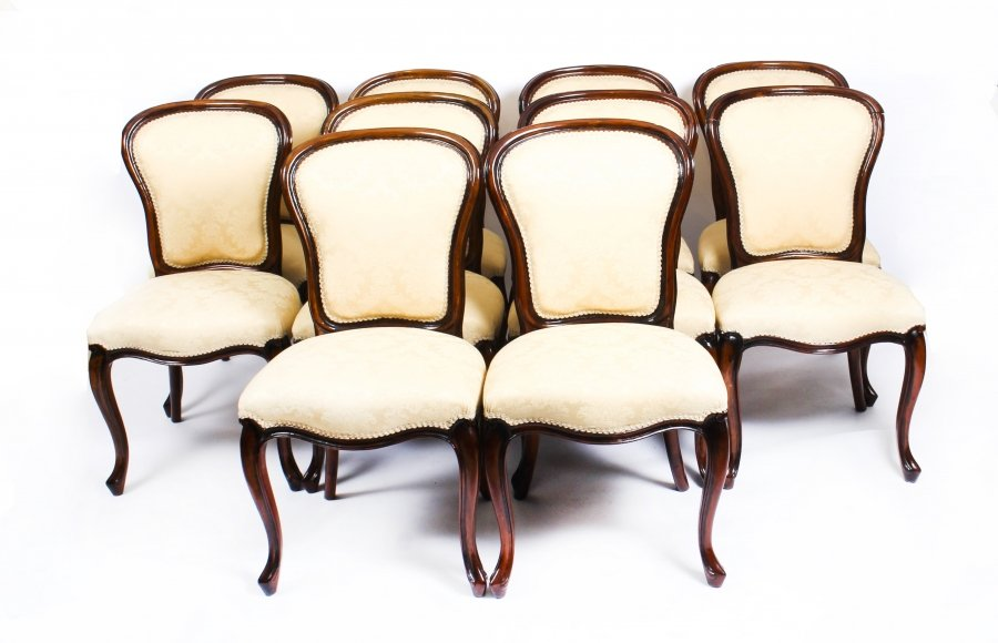 Antique Set of 10 Louis Revival Cabriole Dining Chairs  19th Century | Ref. no. 09266 | Regent Antiques