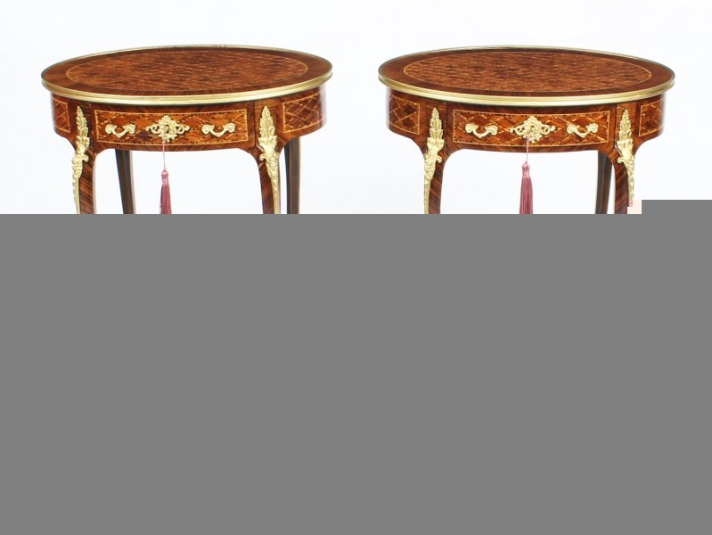 Antique Pair  Ormolu Mounted Parquetry Occasional  Tables 19th C | Ref. no. 09267 | Regent Antiques