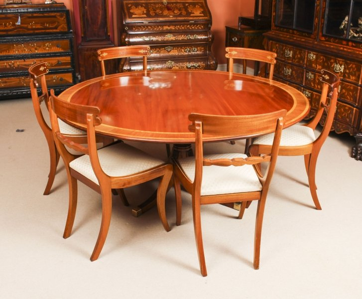 Vintage William Tillman Regency Dining Table & 6 Regency style  Chairs 20th C | Ref. no. 09273 | Regent Antiques