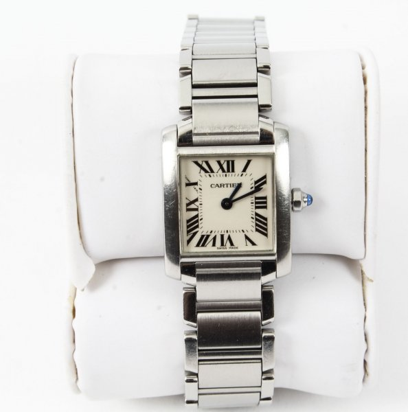 Vintage  Cartier Tank Francaise Stainless Steel  Ladies Watch 21st Century | Ref. no. 09312 | Regent Antiques