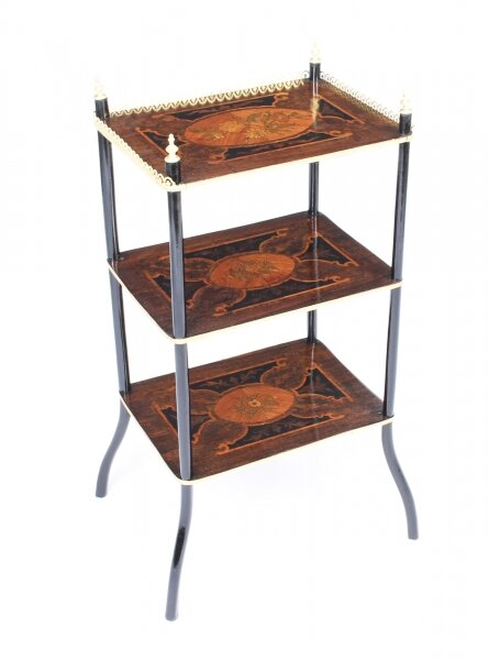 Antique French Marquetry & Ormolu Three-tier Etagere Table c.1860 | Ref. no. 09316 | Regent Antiques