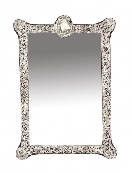 Antique Monumental Victorian Silver Easel Mirror John & William Deakin 1901 | Ref. no. 09324 | Regent Antiques