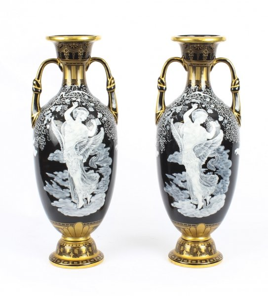 Antique Stunning Pair Sevres 'Pate Sur Pate' Porcelain Vases 19th Century | Ref. no. 09327 | Regent Antiques