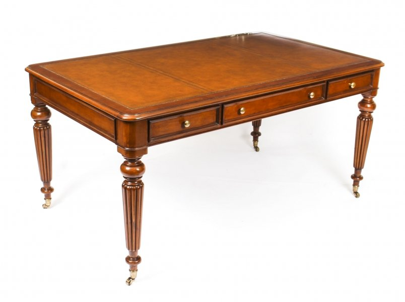Bespoke Gillows Style Mahogany Partners Writing Table Desk 21st C | Ref. no. 09345 | Regent Antiques