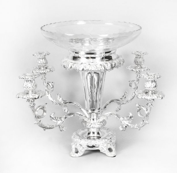 Antique Victorian Silverplate Centrepiece  Candelabra 19th C | Ref. no. 09357a | Regent Antiques