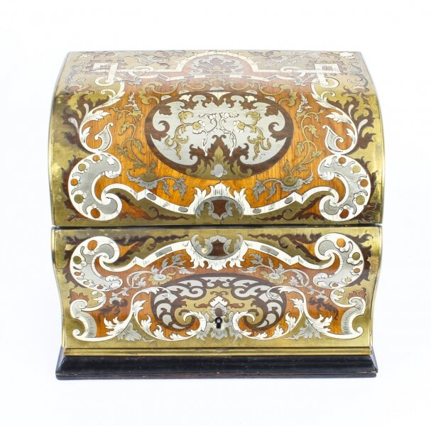 Antique Gilt Brass Inlaid Fall Front  Stationery Casket c.1860 | Ref. no. 09365 | Regent Antiques