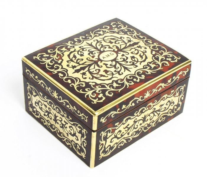 Antique Asprey Tortoiseshell & Brass Boulle Marquetry Box 19th C | Ref. no. 09384w | Regent Antiques