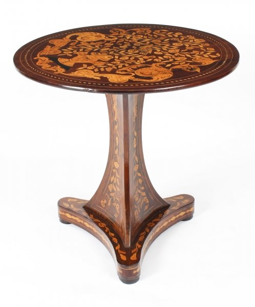 Antique Dutch Floral Marquetry Occasional Table Late  18th Century | Ref. no. 09387 | Regent Antiques