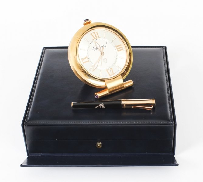 Chopard Imperiale Rose Gold Travelling Alarm Clock & Pen In Presentation Box | Ref. no. 09406 | Regent Antiques