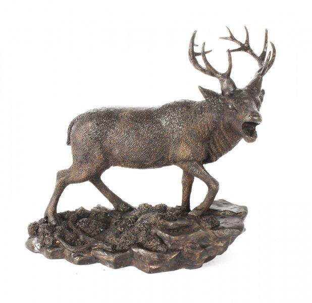 Antique French Bronze Stag Sculpture Christopher Fratin 19th Century | Ref. no. 09421 | Regent Antiques