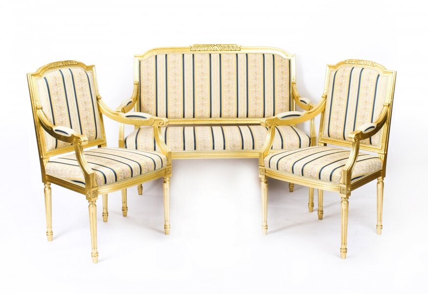 Bespoke Armchairs & Sofa | Louis XVI suite | Regent Antiques | Ref. no. 09431 | Regent Antiques
