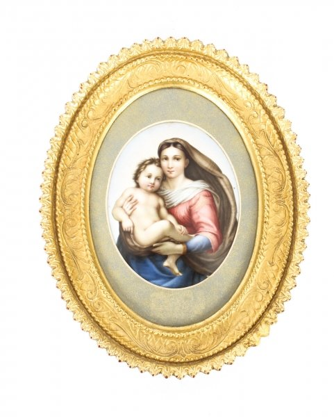 Antique Berlin KPM Plaque of Madonna & Child 19th Century | Ref. no. 09452 | Regent Antiques
