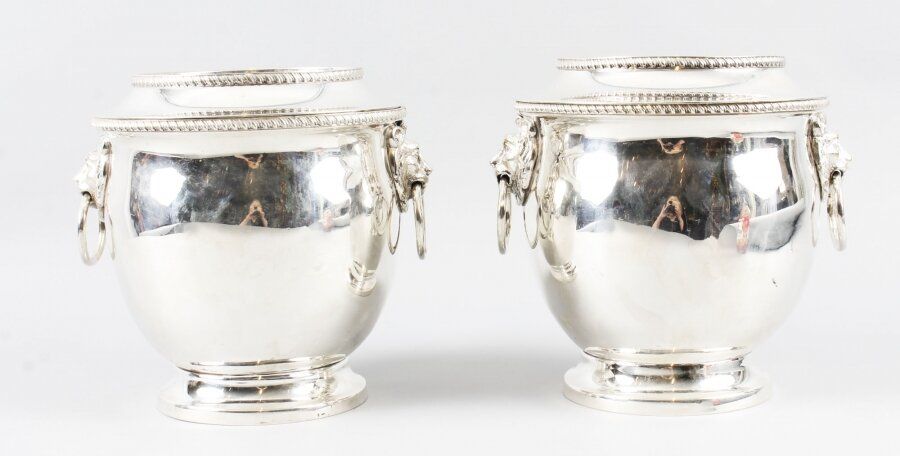 Antique Pair Old Sheffield Regency Wine Coolers C1820  19th Century | Ref. no. 09475 | Regent Antiques