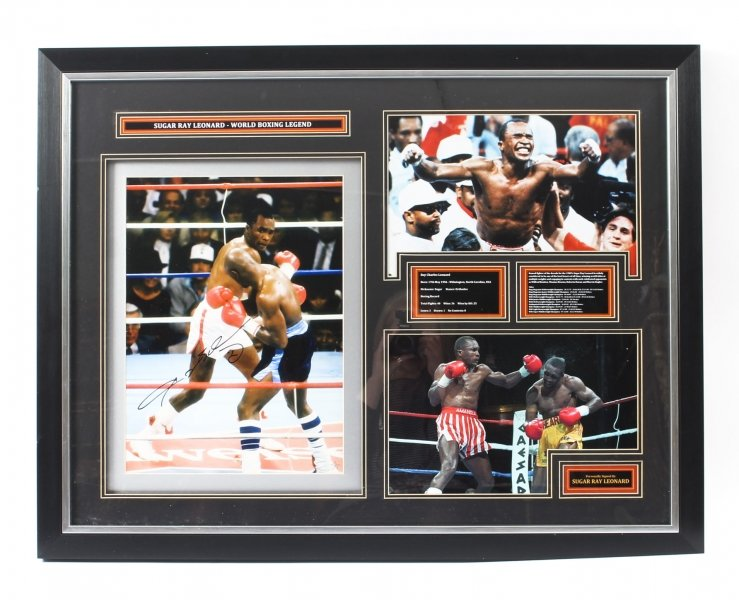Magnificent Signed Autographed Framed Photo of Boxing Legend Sugar Ray Leonard | Ref. no. 09488 | Regent Antiques