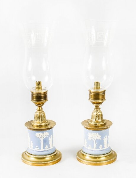 Antique Pair Ormolu & Jasperware Table Lamps Circa 1890 19th Century | Ref. no. 09515 | Regent Antiques