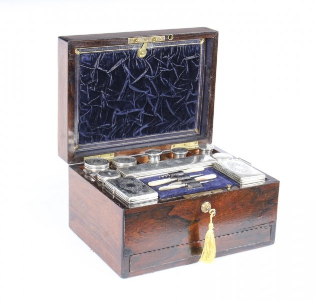 Antique Victorian Sterling Silver Travelling Dressing Case 1861   19th Century | Ref. no. 09545a | Regent Antiques