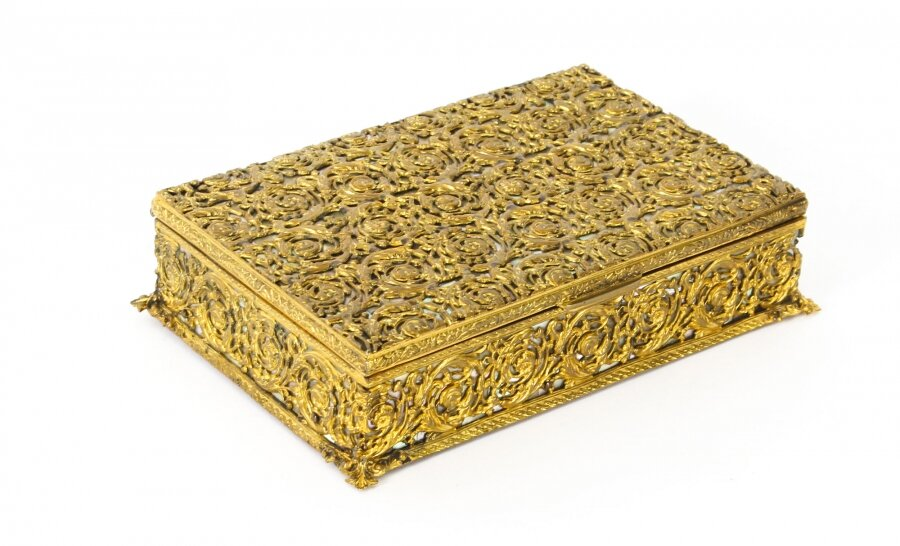 Antique French Ormolu and Mother of Pearl Casket c.1870 19th C | Ref. no. 09554 | Regent Antiques