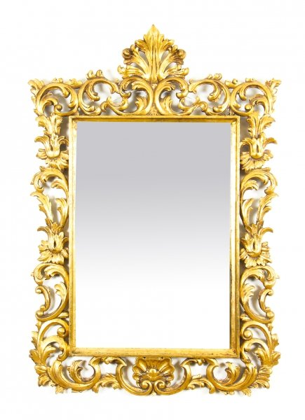 Antique Decorative Giltwood Mirror 19th Century  100 x 69cm | Ref. no. 09572 | Regent Antiques