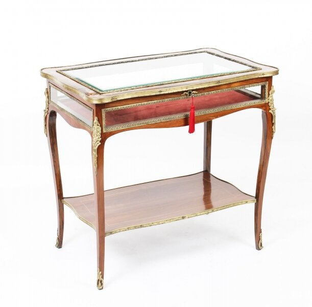 Antique Ormolu Mounted  Marquetry Bijouterie Display Table 19th Century | Ref. no. 09620 | Regent Antiques