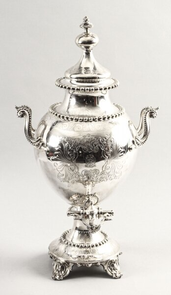 Antique English Victorian Silver Plated Samovar c.1860 | Ref. no. 09628a | Regent Antiques