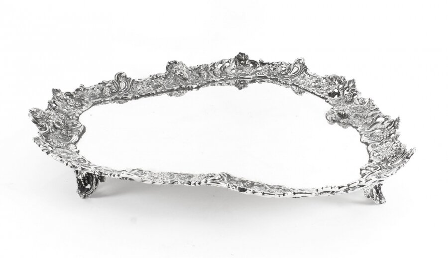Antique Large English Victorian Silver Plated Tray George Richmond Collis 19th C | Ref. no. 09636 | Regent Antiques