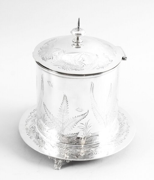 Antique Victorian Silver Plated Biscuit Sweet Box 19th C | Ref. no. 09655b | Regent Antiques