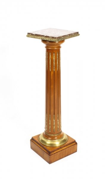 Antique French Fruitwood Ormolu Mounted Pedestal 19th Century | Ref. no. 09706 | Regent Antiques