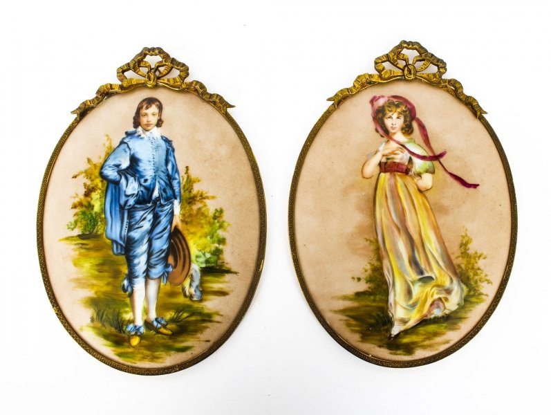 Antique Pair Porcelain Wall Plaques Ormolu Frames C1880 19th Century | Ref. no. 09710 | Regent Antiques