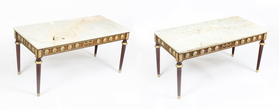 Pair of Ormolu Mounted Coffee Tables Marble Tops H&L Epstein mid-century | Ref. no. 09714 | Regent Antiques