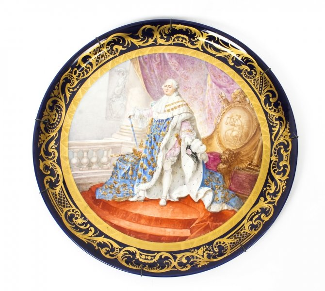 Antique large Sevres Porcelain Charger Louis XV  M.Rochette 19th C | Ref. no. 09723 | Regent Antiques