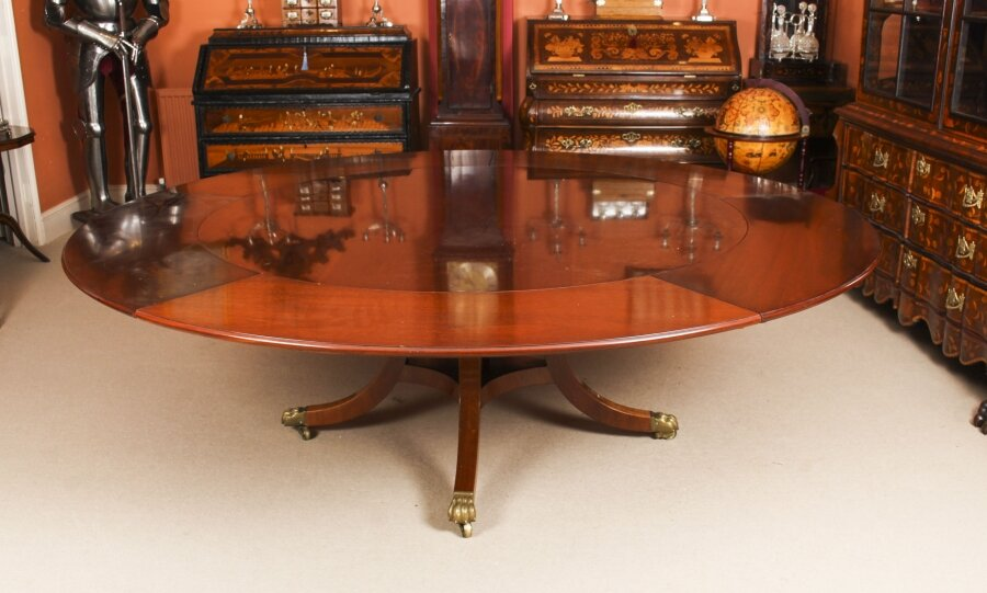 "Vintage 7ft 6"" Diam Jupe Mahogany Dining Table by William Tillman  20th C 
