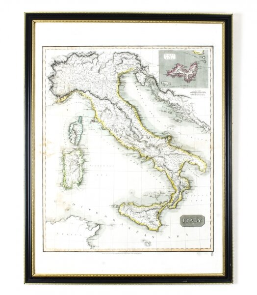 Antique Map of Italy drawn & engraved by R. Scott for Thomsons, Edinburgh 1814 | Ref. no. 09729 | Regent Antiques