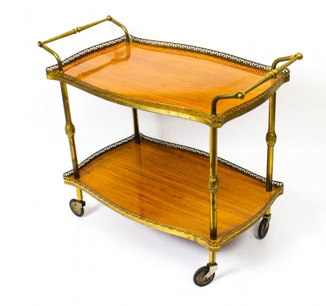 Modernist French Gilt Brass Hostess Trolley  Dry Bar  Mid-Century | Ref. no. 09731 | Regent Antiques