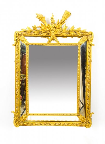 Antique Giltwood Louis Revival Overmantel Cushion Mirror 19th C  133x 92cm | Ref. no. 09740 | Regent Antiques