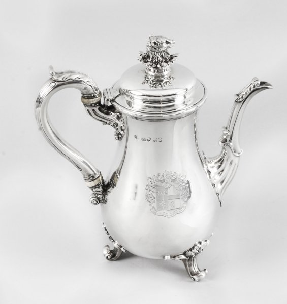 Antique George IV Silver Coffee Pot by Paul Storr  London  1826 19th Century | Ref. no. 09763 | Regent Antiques