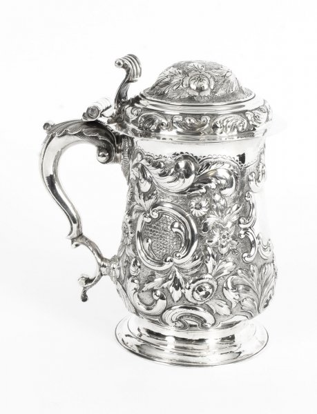 Antique George III Silver Tankard London by John King 1774  18th Century | Ref. no. 09766 | Regent Antiques